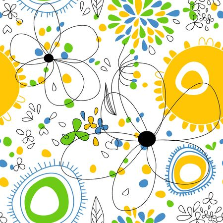 Spring floral seamless pattern  Stock Vector - 9158620