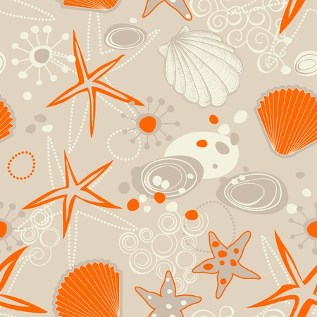 cockle: Beach seamless pattern