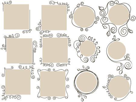 calligraphy frame: Doodle colecci�n frames