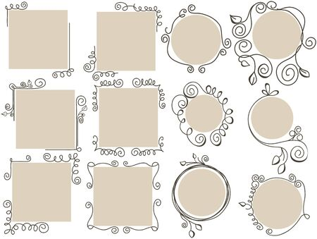 Doodle frames collection  Stock Vector - 9388000