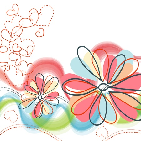 lovely: Cute floral background