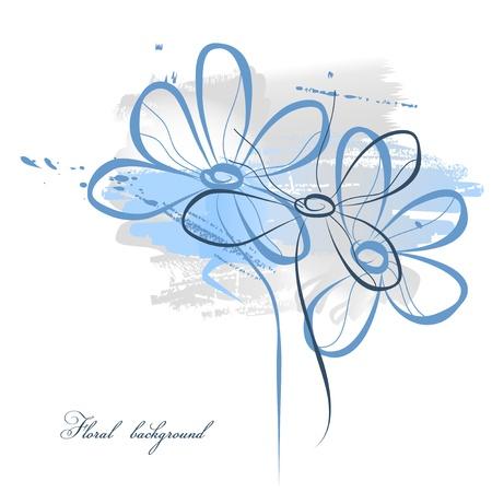 flores color pastel: Fondo de acuarela floral  Vectores