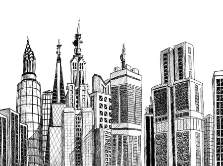 sketched: Urban generic architecture sketch  Illustration