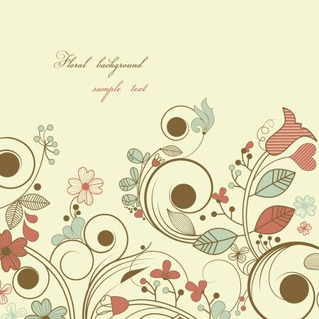 Vintage floral background  Stock Vector - 9533731