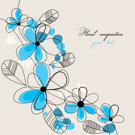 Floral composition with space for text  Vector