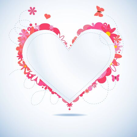 Paper heart  Stock Vector - 9533775