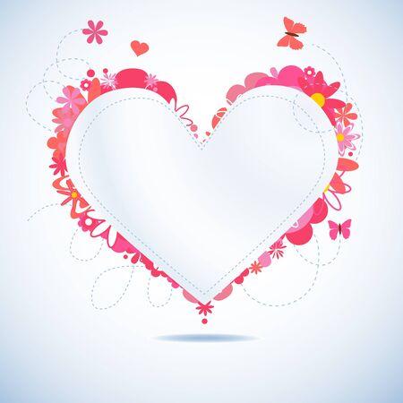 Paper heart Stock Vector - 9533775