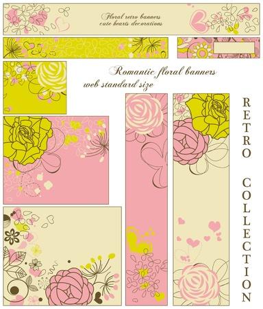 standard: Retro floral banners; standard web size