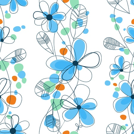 repeating: Floral seamless pattern Vector  Vettoriali