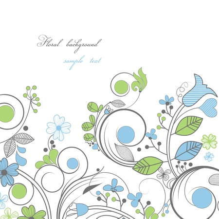 white trim: Vector floral border