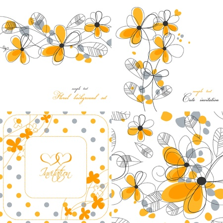 Floral backgrounds collection  Vector