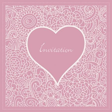 Romantic invitation Stock Vector - 9584715