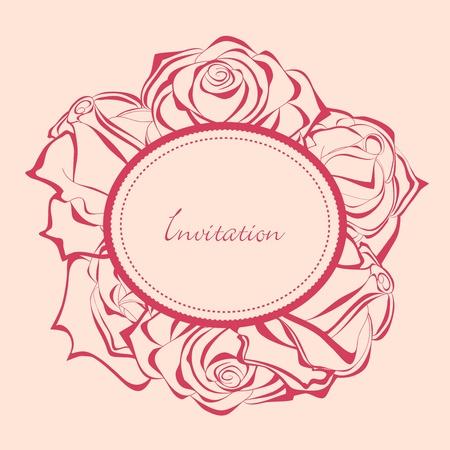 Frame of roses  Vector