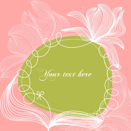 Stylized floral frame  Vector