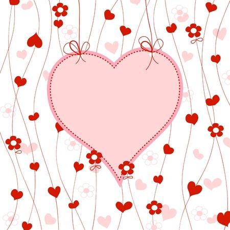 Cute heart frame  Vector