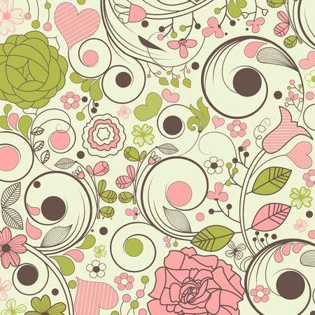 flore: Beautiful floral pattern  Illustration