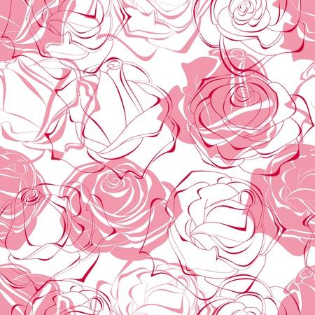 love rose: Patr�n transparente de rosas