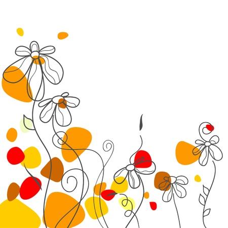 daisy field: Summer floral background  Illustration