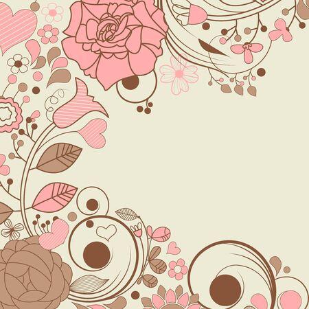 Elegant floral frame Stock Vector - 9721198