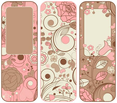 Vector floral banners collection Vektorové ilustrace