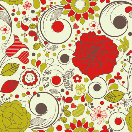 Vector floral seamless pattern Stock Vector - 9764315