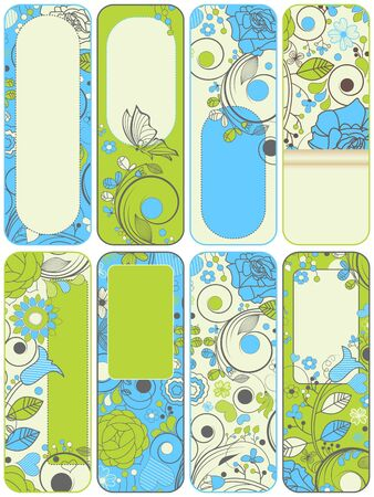 Vector floral banners set Vector