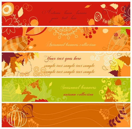Autumn banners set Stock Vector - 9884556