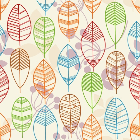 Autumn leaves seamless background Stock Vector - 9884550