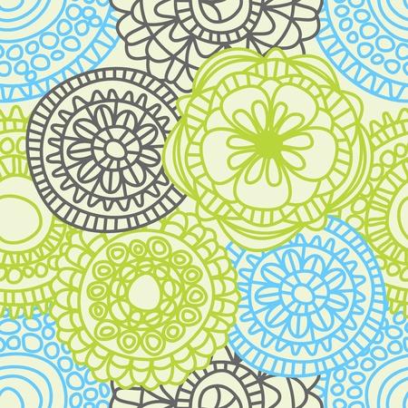 세련 된 꽃 원활한 패턴