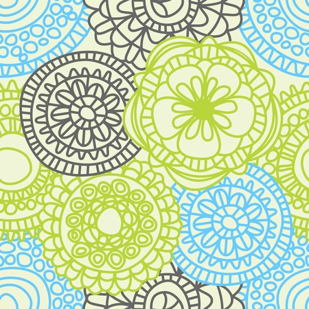 Stylish floral seamless pattern  Vector