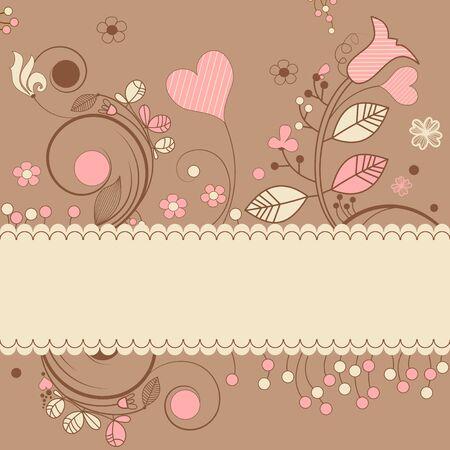 Romantic gift card  Vector