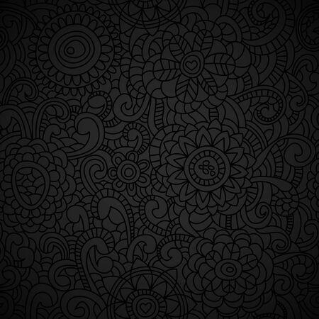 Elegant black seamless pattern Stock Vector - 9884569
