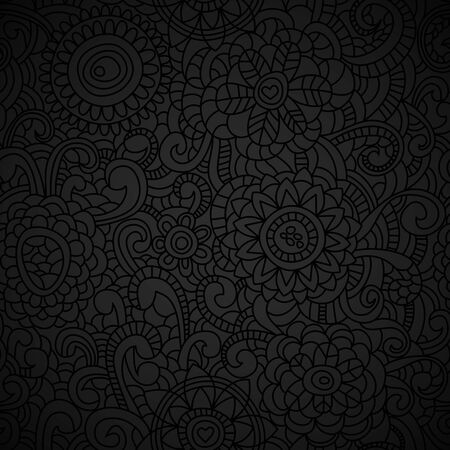 black textured background: Elegant black seamless pattern Illustration