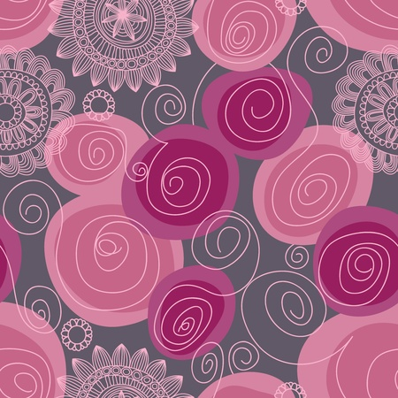 swirly: Floral seamless pattern