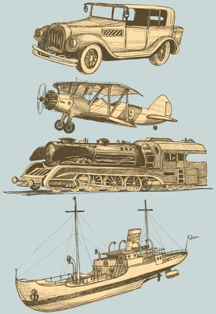 steamship: Retro transportset