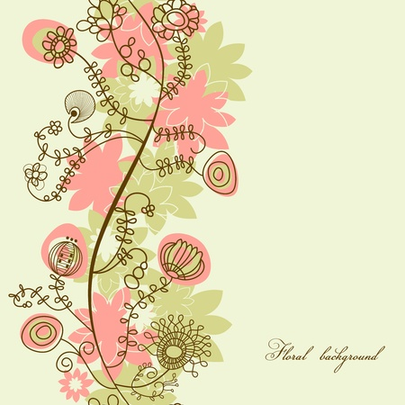 Vector floral background (seamless pattern)  Vector