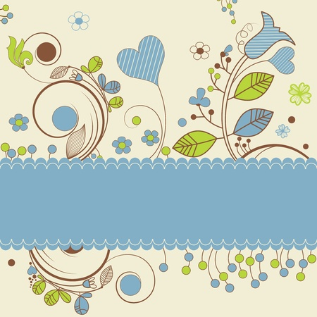 Floral design with space for text Stock Vector - 10002719