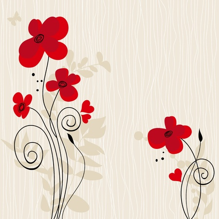 Romantic floral background Stock Vector - 10002717