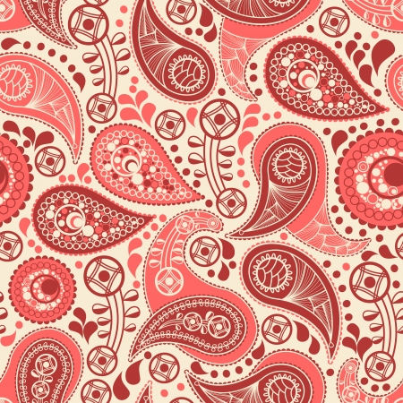 disegni cachemire: Seamless pattern Paisley