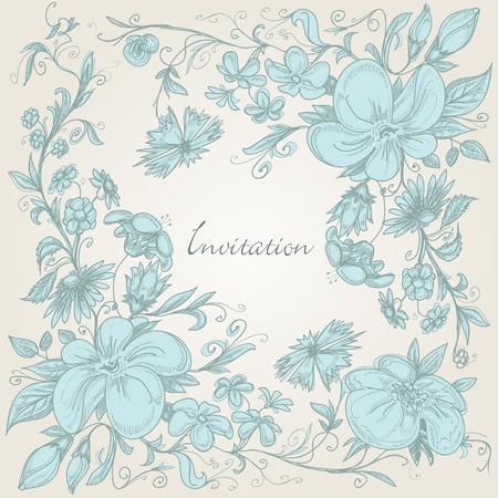 Vintage floral background Stock Vector - 10086978