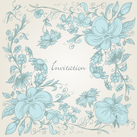 Vintage floral background Stock Vector - 10086978