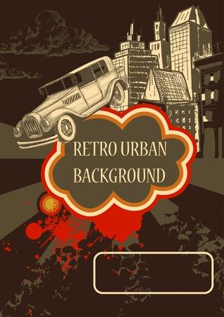 car ornament: Retro background