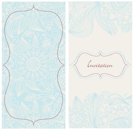 lace filigree: Invitation card
