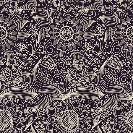 Floral seamless pattern Stock Vector - 10171232