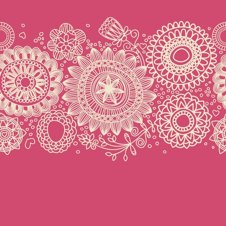 Floral background (seamless pattern)  Vector