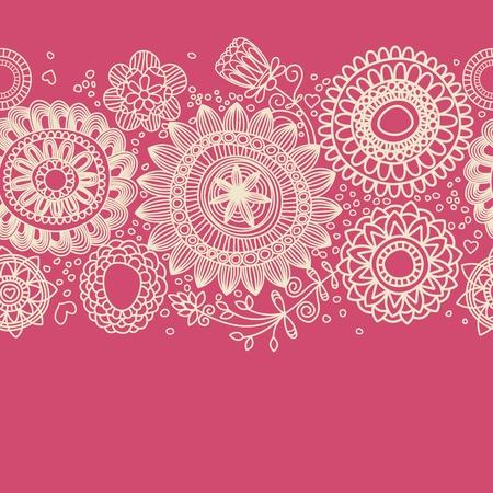 lineas decorativas: Fondo floral (patrón transparente)