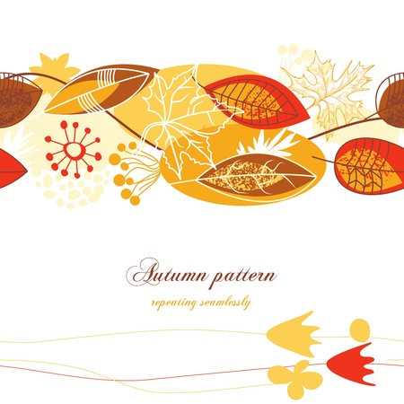 Fall leaves background Stock Vector - 10206948