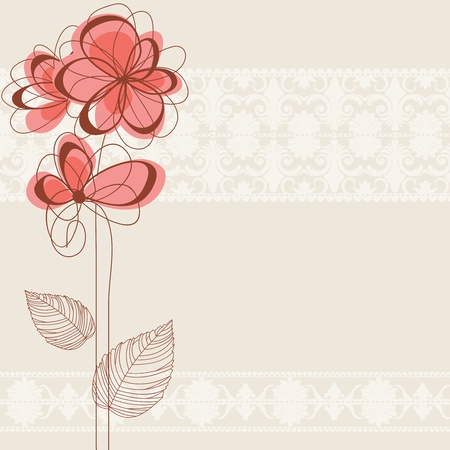 Cute floral background  Stock Vector - 10206949