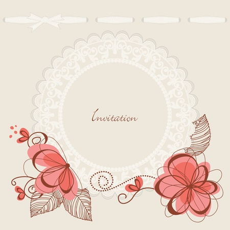 Floral background lace frame Stock Vector - 10206952