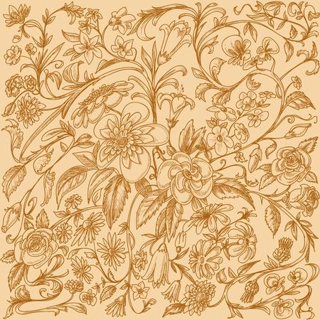 flores vintage: Vintage floral background